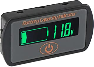 Battery Capacity Indicator, DROK DC 5V-66V Lead Acid Battery Percentage Voltage Tester 12V 24V 36V LCD Electric Quantity Volt Detector Meter Panel Gauge Lithium Battery Status Monitor for Car Vehicle