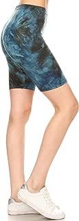 Leggings Depot Women's Ultra Soft Printed Fashion Biker Shorts