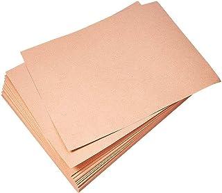 TCATEC A4 クラフト紙 DIYクラフトペーパー 100枚 0.33mm 260g 厚口 はがき用紙 名刺 紙カードストックを描く カード用紙 包装紙 100枚