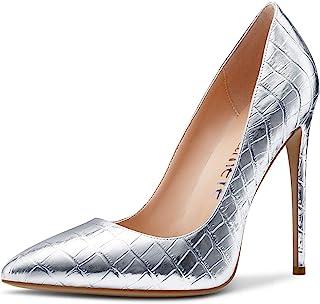 CASTAMERE Escarpins Femme Mode Bout Pointu Aiguille Talon 12CM Heel Shoes