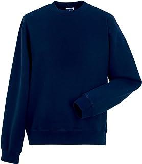 Russell Men Adult Herringbone Neck Tape Long Sleeve Authentic Set in Sweat Shirt