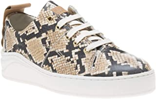 HUDSON LONDON Sierra Snake Womens Sneakers Natural