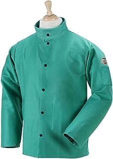 "Black Stallion F9-36C 36"" 9oz. Green FR Cotton Welding Jacket, 2X-Larg"
