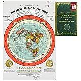 Flat Earth Map - Gleason's New Standard Map of the World - 24' x 36' Premium Quality Poster - Bonus FREE eBook - Zetetic Astronomy by Samuel Rowbotham