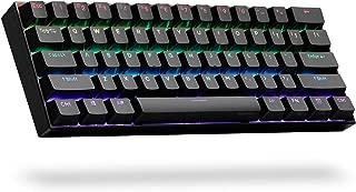 ANNE PRO 2, 60% Wired/Wireless Mechanical Keyboard (Kailh Box Brown Switch/Black Case) - Full Keys Programmable - True RGB Backlit - Tap Arrow Keys - Double Shot PBT Keycaps - NKRO - 1900mAh Battery