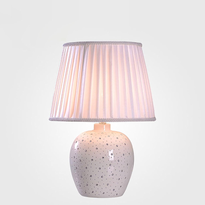 Europäische Art-Nachttisch-Lampen-Hochzeits-Tabellen-Lampe Luxux Einfache Moderne Kreative Art- Und Weiselebensraum-Dekoration-Tabellen-Lampen-Knopf-Schalter (weiß) B072HDGGXX | Spielzeugwelt, spielen Sie Ihre eigene Welt