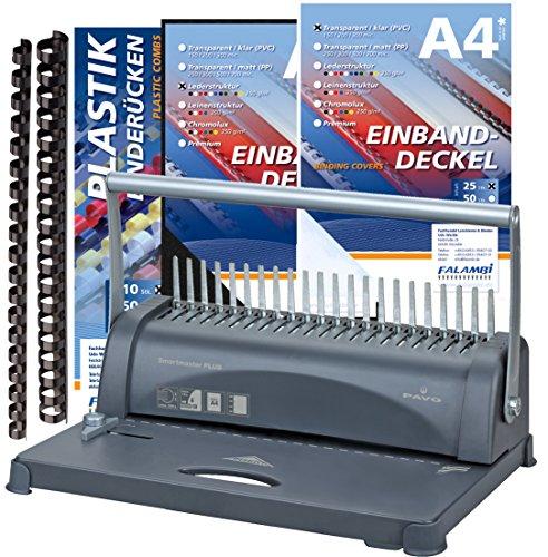 Bindegerät inkl. Starterset 100 Teile, stanzt bis 12 Blatt/bindet bis 350 Blatt