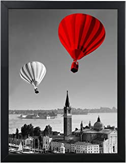 18x24 Black Picture Frames Wall Hanging Decor Solid Wood Display Poster Frame Without Mat