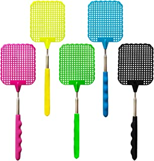 Fly Swatter Manual Extendable Fly Swatter Plastic Durable Retractable Handle … (5 pcs)