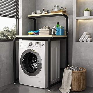Support de machine à laver Étagère de salle de bain à double couche, étagère de machine à laver en acier au carbone, tambo...