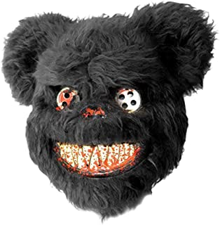 biliten Bloody Scary Plush Teddy Bear Mask for Masquerade Halloween Performance Props