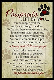 pawprints left by you plaque