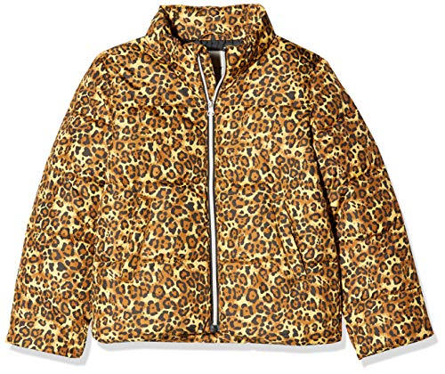 NAME IT Mädchen NKFMISTI Jacket Leo Jacke, Mehrfarbig (Bronze Brown Bronze Brown), (Herstellergröße: 116)