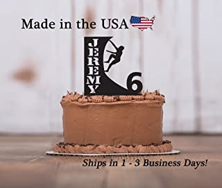 Warped Wall, American Ninja Warrior, Wall Climbing, Cake Topper, FREE Keepsake Base, Birthday Decor, Personalized, Birthday Party, Theme Party Décor
