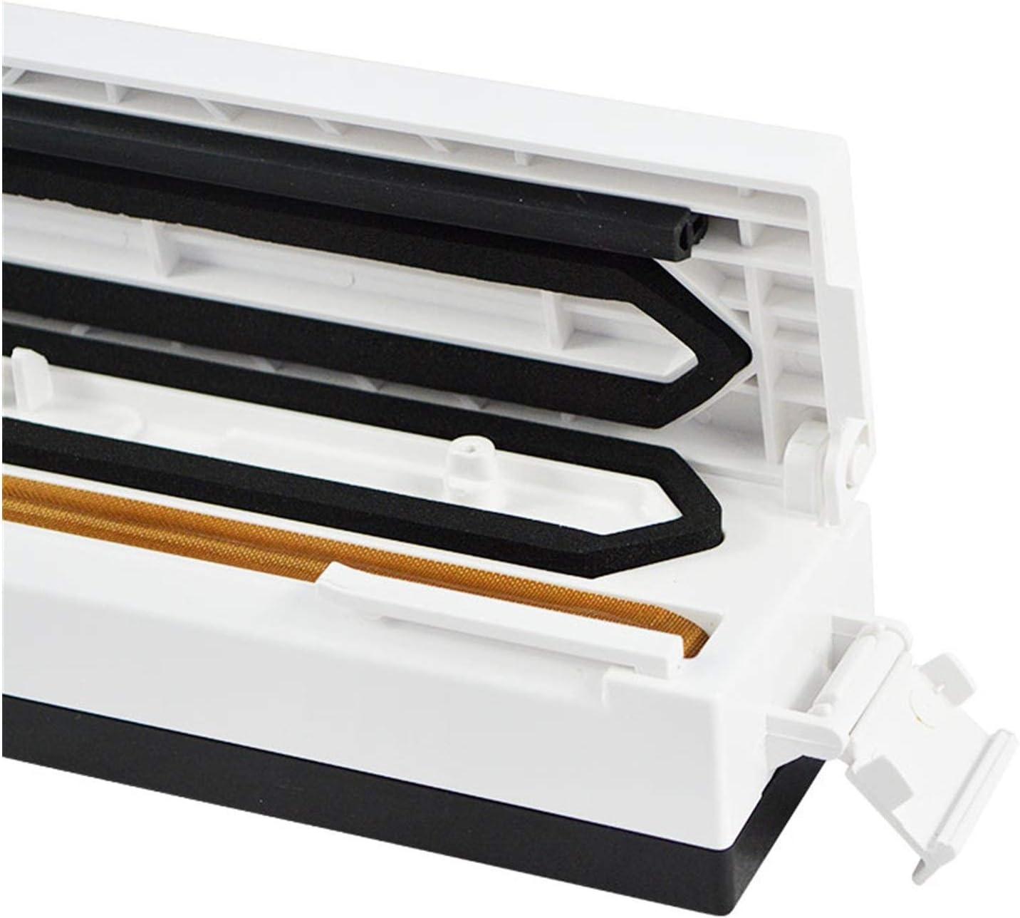 Scellant Nourriture vide Scellant stockage d'emballage d'étanchéité machine à vide de cuisine Container Packer Food Saver avec de Vacum Sac aspirateur (Color : 3 roll bags) Orange