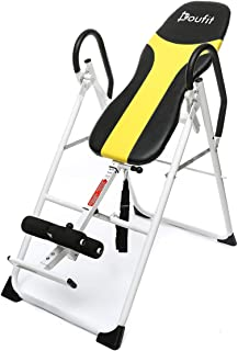Doufit Inversion Table for Back Pain Relief, IT-01 Adjustable Heavy Duty Inverted Exercise Machine, Folding Gravity Table for Workout at Home