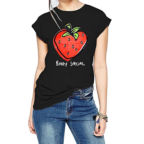343e7780e64 FV RELAY Women s Graphic Tee Tops Cute Strawberry Short Sleeve Casual Teen  Girls T Shirts