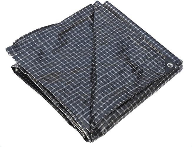 LJL Bache imperméable Bache imperméable épaisse, bache de Bateau de Camion, Usure de Couverture de poussière de Voiture, Plaid Noir et Blanc Bache Robuste (Couleur   A, Taille   3 x 6m)