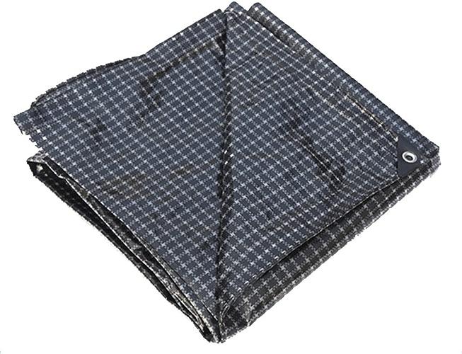 AJZXHE Bache imperméable épaisse, bache de Bateau de Camion, Usure de Couverture de poussière de Voiture, Plaid Noir et Blanc -Tente