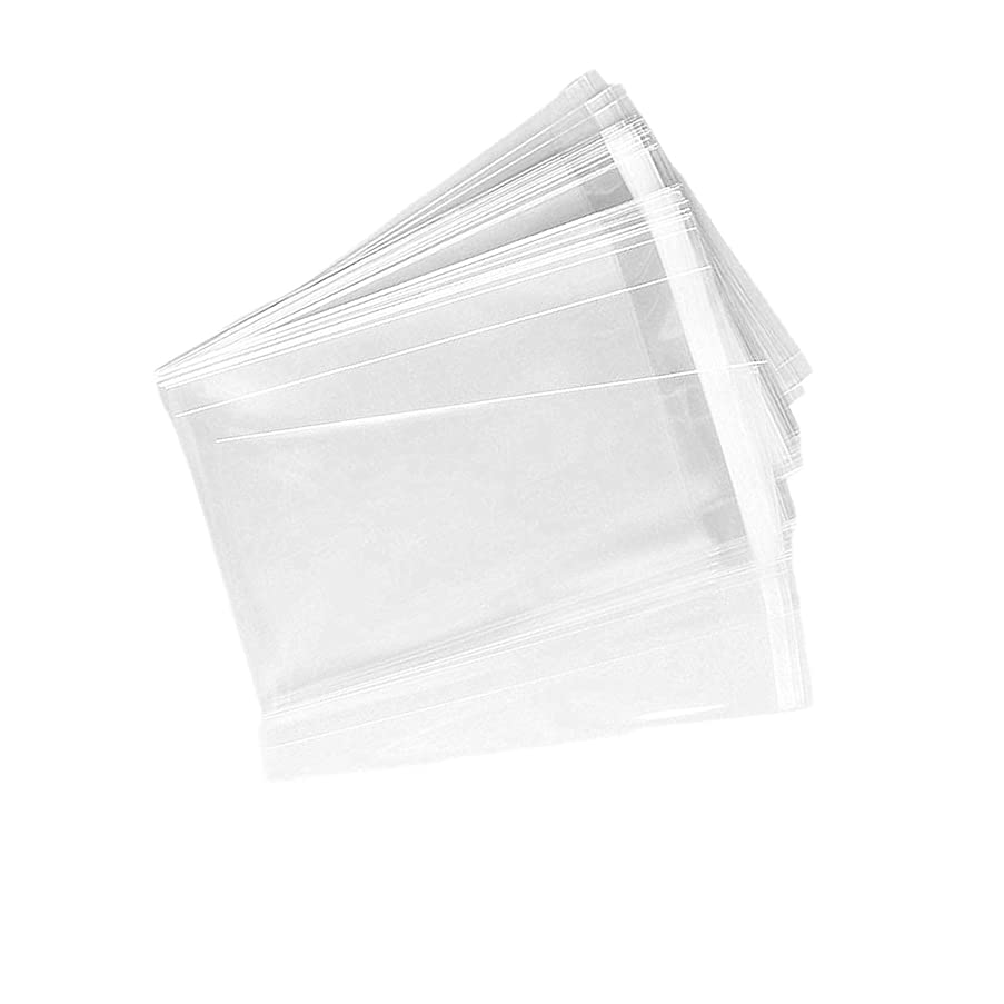 E-Uli 100 Pcs 61/4x9 Clear Resealable Cello/Cellophane Bags Good for Bakery,Favors, Candle, Soap, Cookie Office Stationery Storage Bags,Arts & Crafts