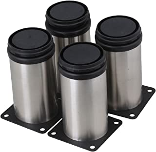 RDEXP Stainless Steel Adjustable Furniture Cabinet Legs Set of 4