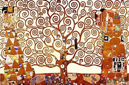 Wdbzd Rompecabezas 1000 Piezas Para Adultos Familias Clásico Madera Regalo Bricolaje Decoración Creativa Para El Hogar: El Árbol La Vida Gustav Klimt