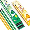 12-Pack Angelostek Triangle Child Easy to Hold Writing Pencil with Eraser
