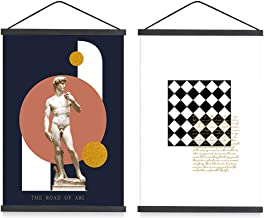 Mookgro 2Pack Poster Frame 16x20 16x24 Magnetic Poster Frame Hanger Hanging Kit for Picture Photo Art Print or Canvas Artw...