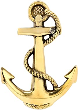 Solid Brass Fouled Anchor Doorknocker
