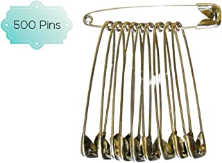 DBC Retail Multipurpose Safety Pins (Pack of 500 Pins)
