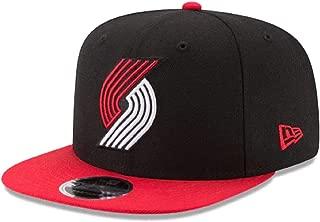 Authentic Portland Trailblazers Black & Red Original Fit 2Tone NBA Team Color Cap Adjustable Hat 9Fifty Snapback