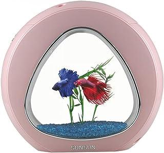 sun sun Kit Acuario diseño Circular 6 litros Rosa