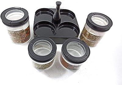 MODERN INNOVATOR Multi Purpose Plastic BPA-Free Kitchen Storage Jar | Air-Tight Kitchen Storage Container (300ml and 600ml)