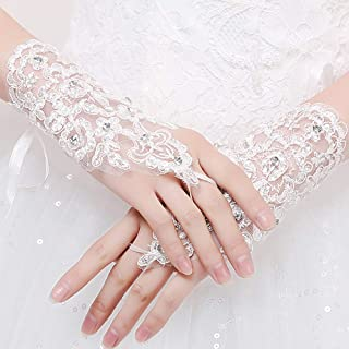 Short Gloves Women's Lace Gloves for Opera Evening Party