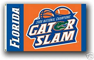Florida Gators GATOR SLAM 3x5 Flag Banner 2006 Champions Football Basketball University of