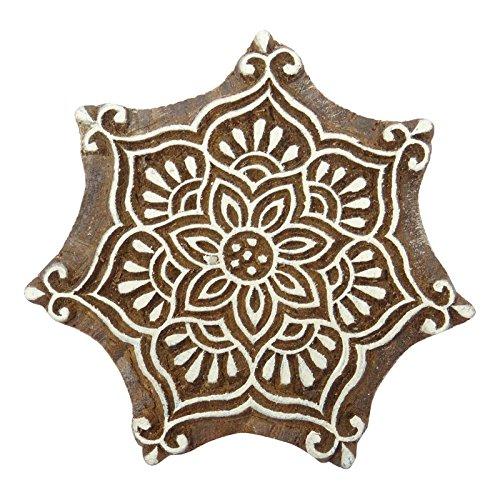 Dekorative Holzblumen Hand geschnitzte Block Printing Blocks Indian Stamp