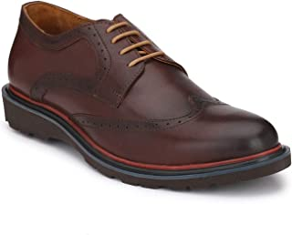 Delize Brown Genuine Leather Brogue Shoes