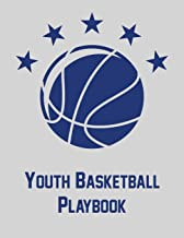 Youth Basketball Playbook: Notebook with blank basketball court diagrams, notes, and undated calendar (8.5x11)