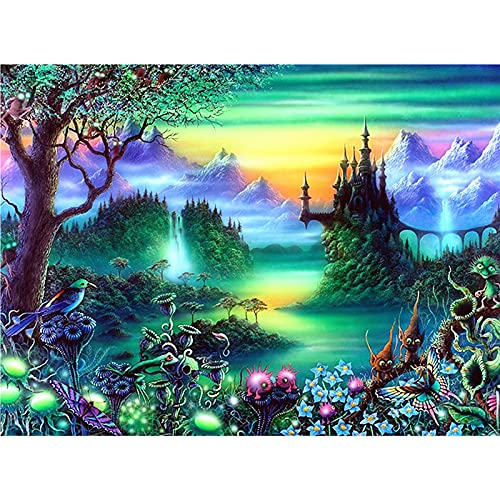 Huacan DIY 5D Diamond Painting Full Square Drill Kits Rhinestone Picture Art Craft Home Wall Decor 12x16In
