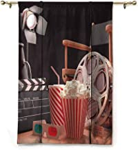 Andrea Sam Tie Up Shade Window Movie Theater,Objects of The Film Industry Hollywood Motion Picture Cinematography Concept,Multicolor,23