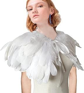 white feather collar