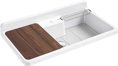 Kohler 21103-2HW-0 Farmstead Kitchen Sinks, White