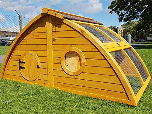 Hühnerstall Hühnerhaus Cocoon Hühnerstall Half Moon mit abnehmbares Dach für einfachere Reinigung, mit stabilem Nistkasten, grosser Lebensraum und 167cm Lang inklusive Nistkasten - Designer Stall - 5
