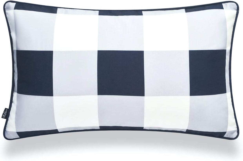 Hofdeco Coastal Patio specialty Max 42% OFF shop Indoor Outdoor Lumbar ONLY Cover fo Pillow