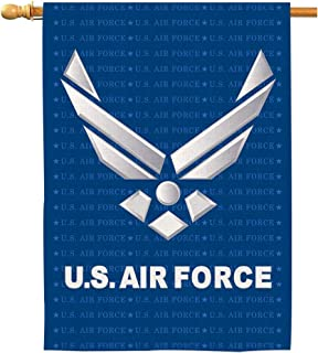 AOKDEER US Air Force House Flags Natural Burlap Banners Garden Yard Outdoor Decorations Double Sided Home American Airforce Military Flag 28x40 Inch