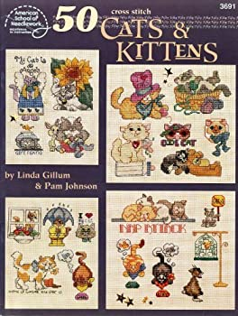50 Cross Stitch Cats and Kittens 0881958182 Book Cover