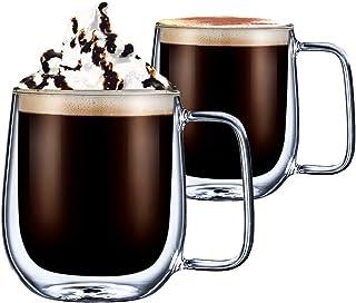 comprar comparacion CMXING Tazas de café de Pared Doble Copas Tazas de café Termo Transparentes aisladas para Espresso Cappuccino Latte (300 ml)