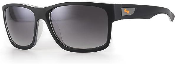 Sundog Default Sunglasses, Matte Black Crystal White Frame/Gradient Smoke Lens