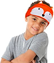CHOKMAX Kids Headphones, Volume Limiting with Ultra Thin Adjustable Speakers Soft Children Fleece Headband Toddler Headphones for Home and Travel - Orange Fox