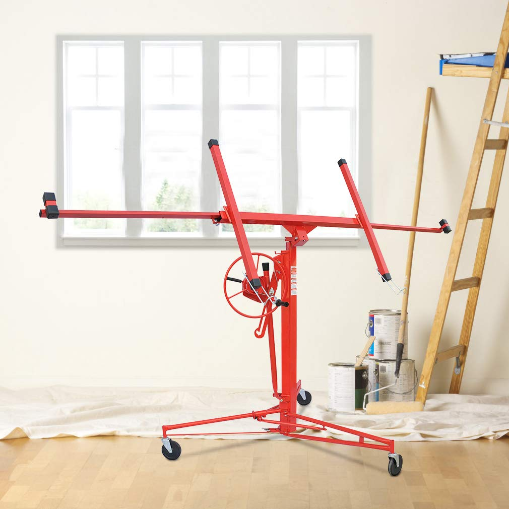 Drywall Lifter Rolling Caster Construction